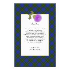 Scotch Clan Tartan Wedding Poem Thank You Scroll Flyer