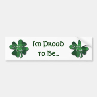 Scotch Irish Plaid Shamrocks Bumper Sticker
