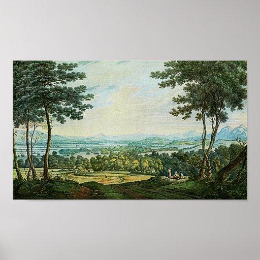 Scotch Landscape Watercolor Painting Art Print!