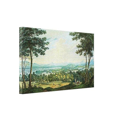 Scotch Landscape Wrapped Canvas Print