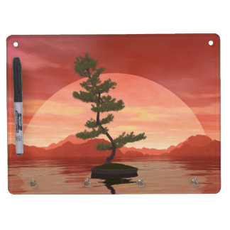Scotch pine bonsai tree - 3D render Dry Erase Board With Keychain Holder