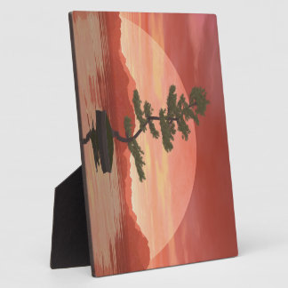 Scotch pine bonsai tree - 3D render Plaque