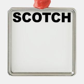 SCOTCH.png Metal Ornament
