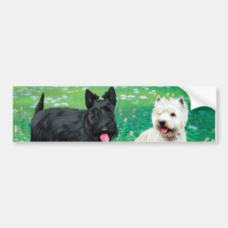 Scotch terrier & uesutei bumper sticker
