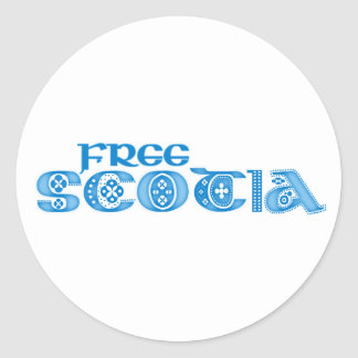 Scotia libre etiquetas redondas