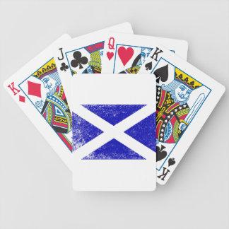 Scotish Flag With Grunge Bicycle Playing Cards