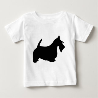 Scotish Terrier Silhouette Baby T-Shirt