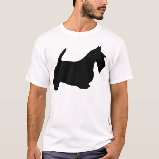 Scotish Terrier Silhouette T-Shirt
