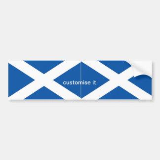 Scotlahd St Andrews saltire flag bumper sticker