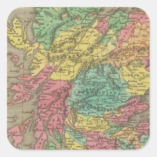 Scotland 18 square sticker