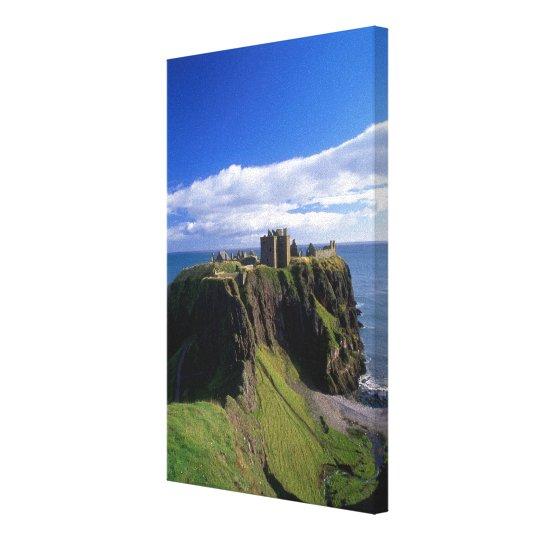 Scotland, Aberdeen. Dunnotar Castle. Canvas Print
