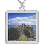 Scotland, Aberdeen. Dunnotar Castle. Personalized Necklace