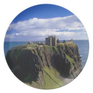 Scotland, Aberdeen. Dunnotar Castle. Plate