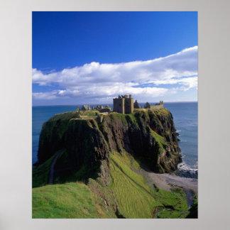 Scotland, Aberdeen. Dunnotar Castle. Poster