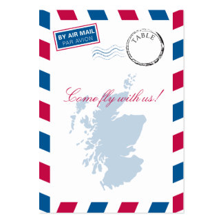 Scotland Airmail Escort/Seating Card Wedding Large Business Cards (Pack Of 100)