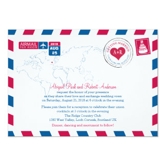 Scotland Airmail | Wedding Card
