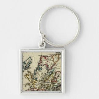 Scotland ancient, modern keychain