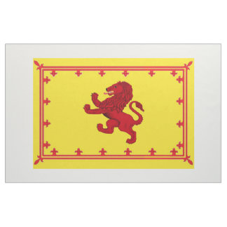 Scotland ancient Rampant Lion flag bright yellow Fabric