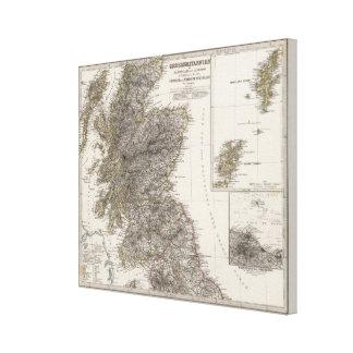 Scotland Atlas Map 2 Canvas Print