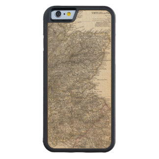 Scotland Atlas Map 2 Carved® Maple iPhone 6 Bumper