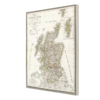 Scotland Atlas Map Canvas Print