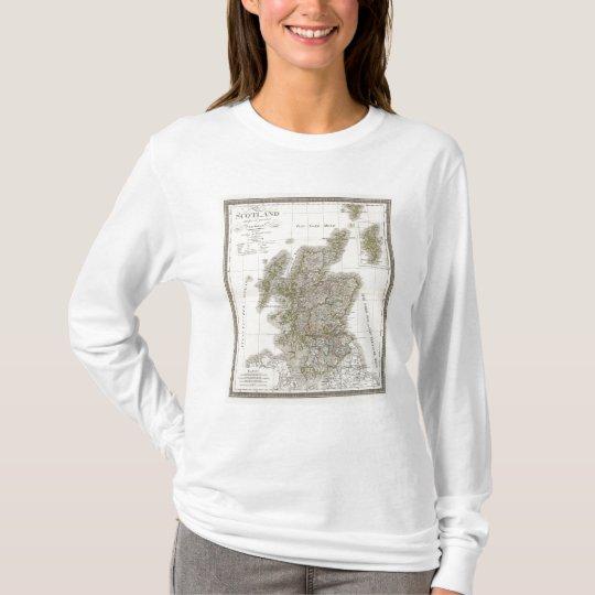 Scotland Atlas Map T-Shirt