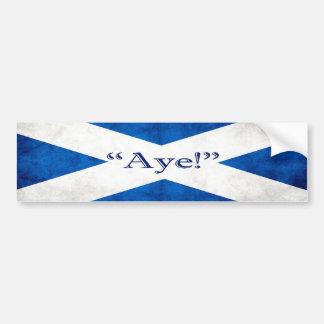 Scotland, AYE! Bumper Sticker