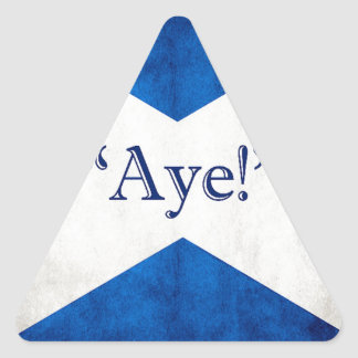 Scotland, AYE! Triangle Sticker