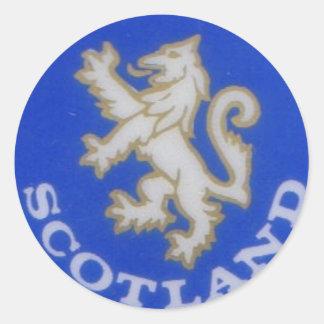 scotland badge classic round sticker