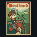"Scotland | Bag Piper Postcard<br><div class=""desc"">Anderson Design Group is an award-winning illustration and design firm in Nashville,  Tennessee. Founder Joel Anderson directs a team of talented artists to create original poster art that looks like classic vintage advertising prints from the 1920s to the 1960s.</div>"