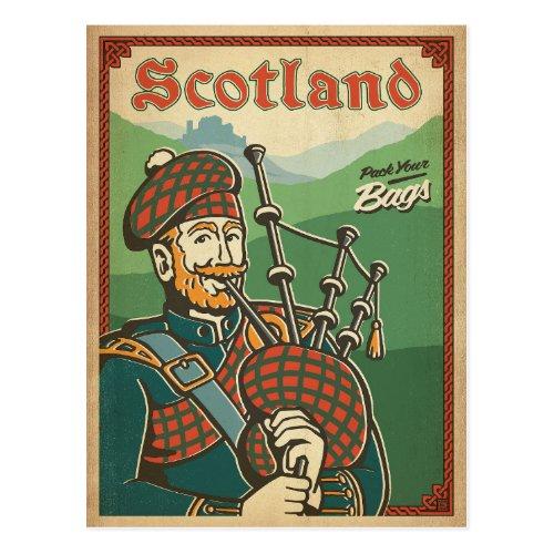 Scotland  Bag Piper Postcard