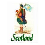 Scotland Bagpiper Postcard