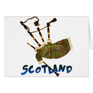 Scotland Bagpipes Card