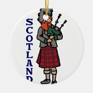 Scotland Bagpipes Ceramic Ornament