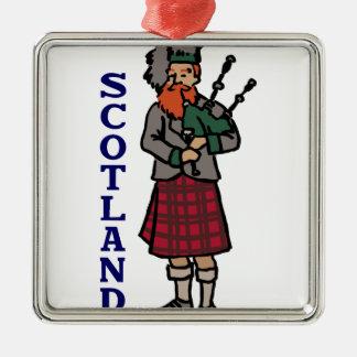 Scotland Bagpipes Metal Ornament