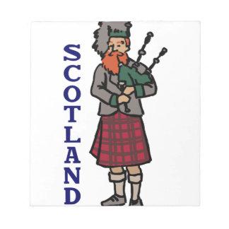 Scotland Bagpipes Notepad