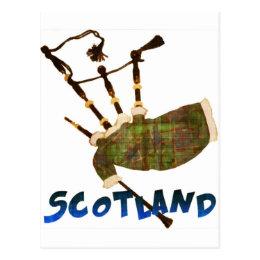 Scotland Bagpipes Postcard