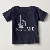 Scotland Bagpipes, Scottish Design Baby T-Shirt