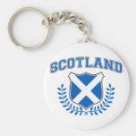 Scotland Basic Round Button Keychain