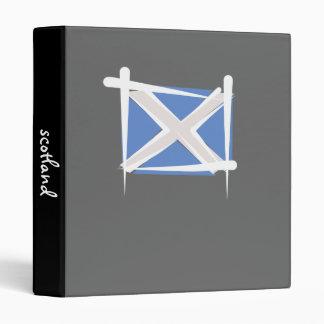 Scotland Brush Flag 3 Ring Binder