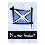 "Scotland Brush Flag 5"" X 7"" Invitation Card"