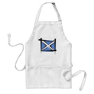 Scotland Brush Flag Adult Apron