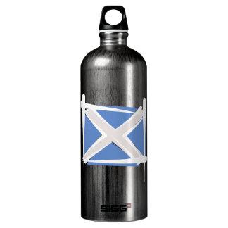 Scotland Brush Flag Aluminum Water Bottle