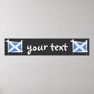 Scotland Brush Flag Banner Poster