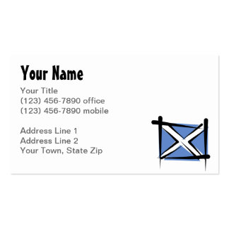 Scotland Brush Flag Double-Sided Standard Business Cards (Pack Of 100)