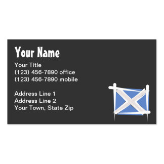Scotland Brush Flag Business Card
