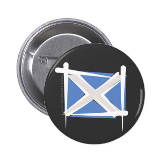 Scotland Brush Flag Buttons