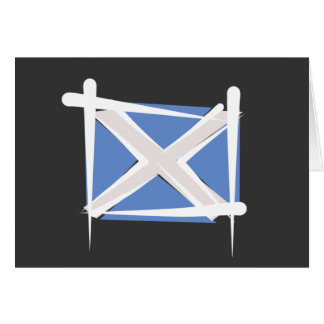 Scotland Brush Flag Card