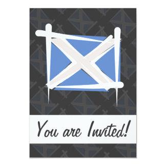 Scotland Brush Flag Card
