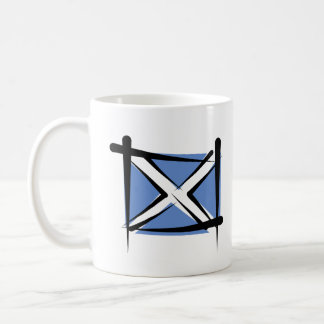 Scotland Brush Flag Coffee Mug